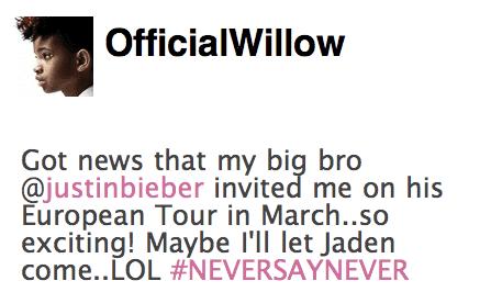 Willow Tweet