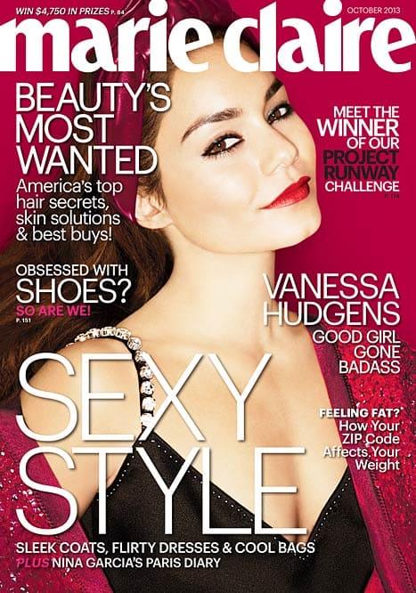 Vanessa Hudgens Marie Claire Cover