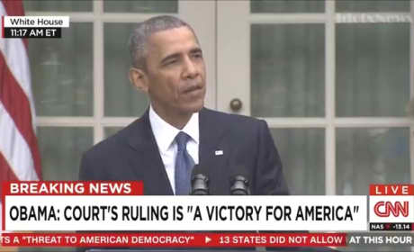 "President Obama Speaks on Gay Marriage Decision, Declares ""Victory of America"""