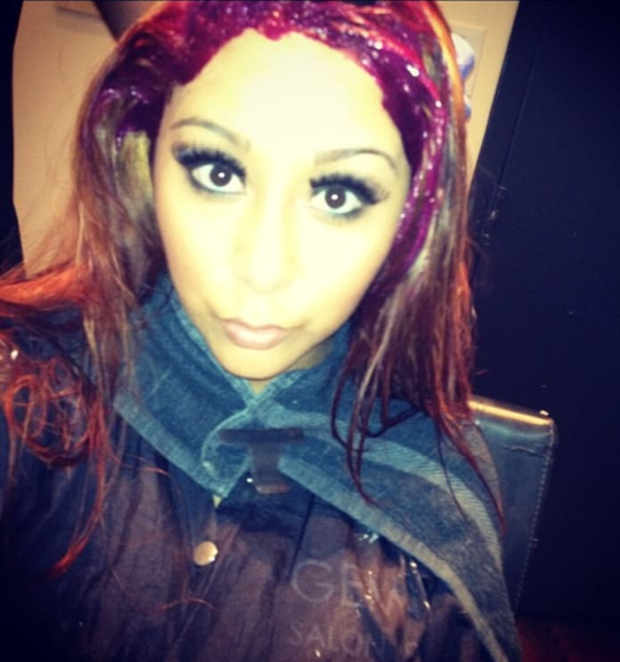 Snooki Red Hair Photos Fan Not A Fan The Hollywood Gossip