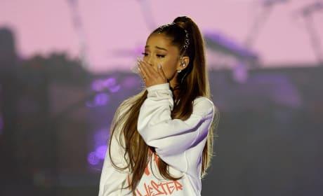 Ariana Grande Gets Emotional