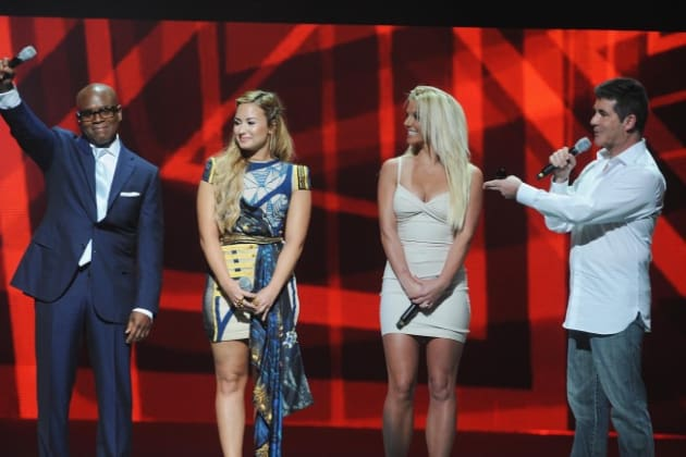 Britney Spears and Demi Lovato X Factor Introduction