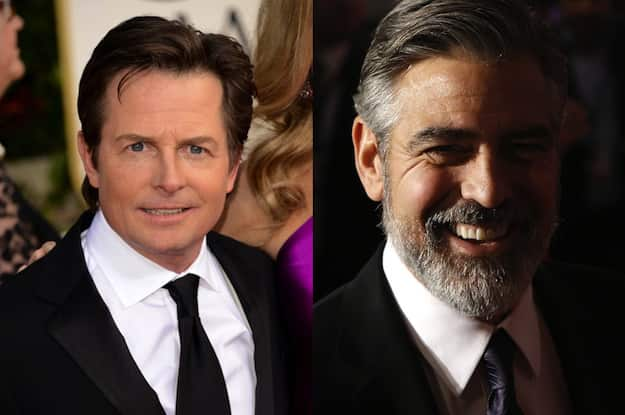 Michael J. Fox and George Clooney