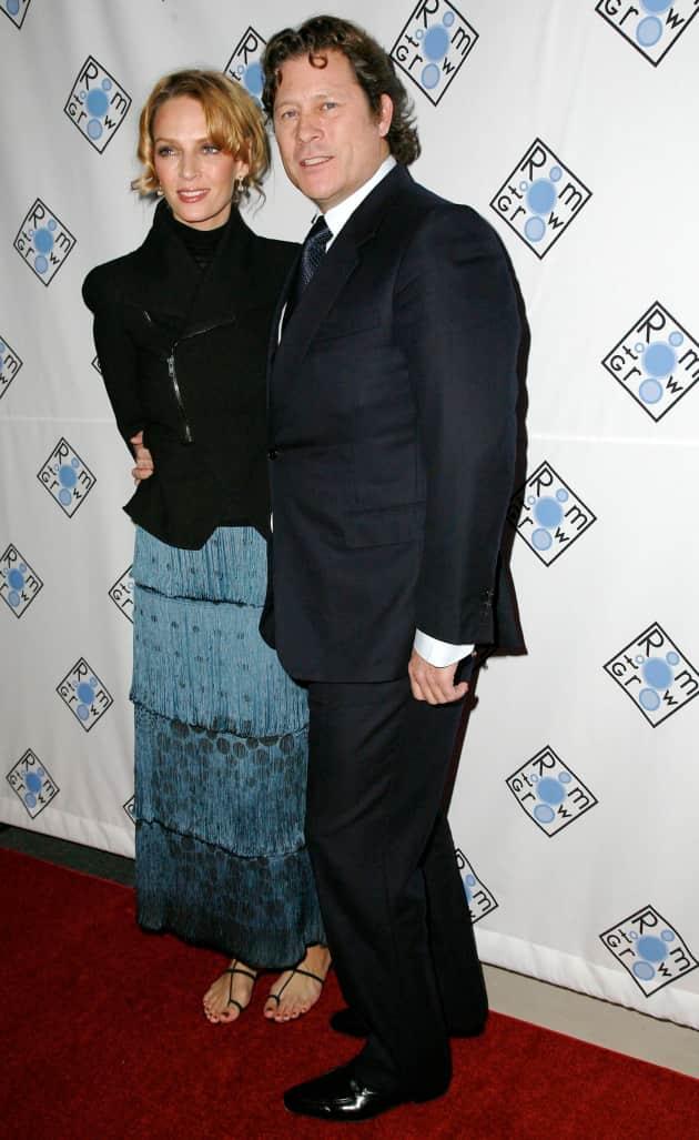 Arpad Busson and Uma Thurman