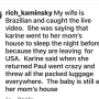 Karine staehle instagram live fight with paul fan explains