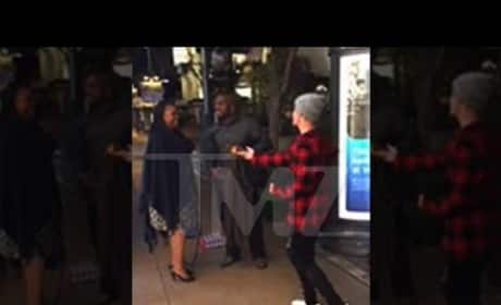 Justin Bieber Sings to Newly-Engaged Couple