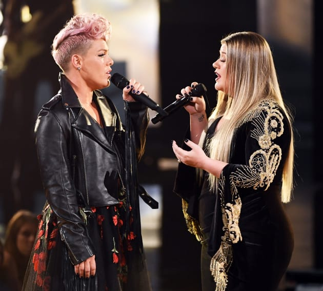 Kelly Clarkson and Pink