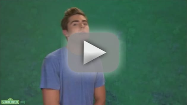 Zac Efron on Sesame Street