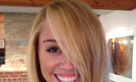 Miley Cyrus Blonde Hair