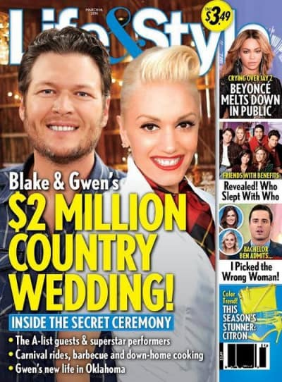 Blake Shelton And Gwen Stefani Planning 2 Million Wedding