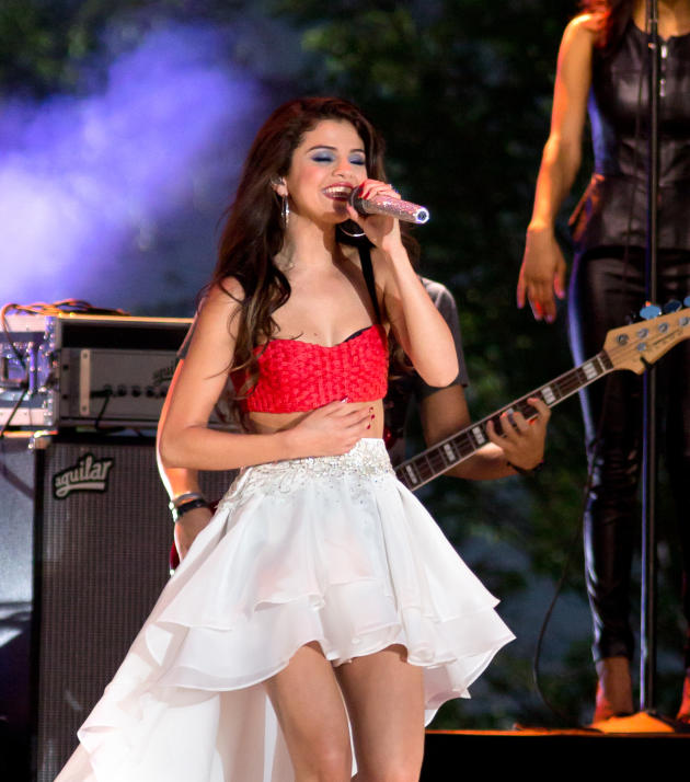On Stage with Selena Gomez