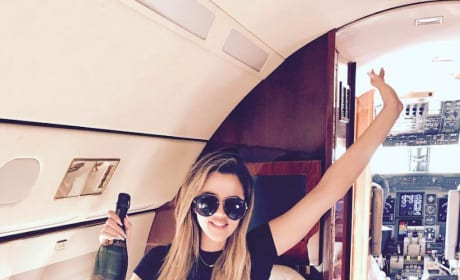 Khloe Kardashian on Private Plane