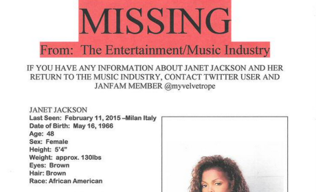 Janet Jackson Missing Poster