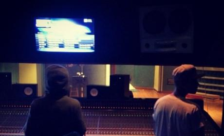 Justin Bieber and Lil Wayne Record Music