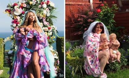 Parents Challenge Beyonce, Recreate Iconic Twins Photo