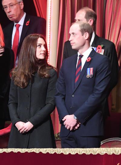 Kate Middleton Glares at William