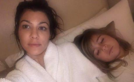 Kourtney Kardashian and Penelope with Lip Ring