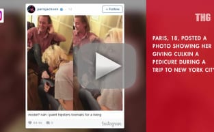 Paris Jackson Gives Macaulay Culkin Pedicure