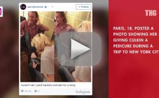Paris Jackson Gives Macaulay Culkin Pedicure
