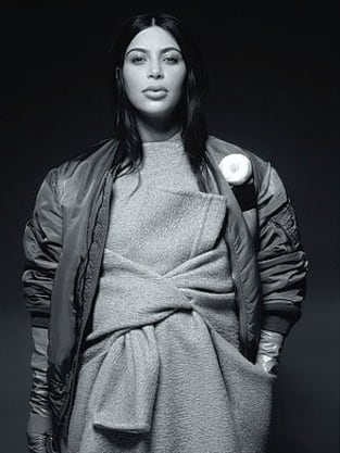 Kim Kardashian Wears Karl Lagerfeld