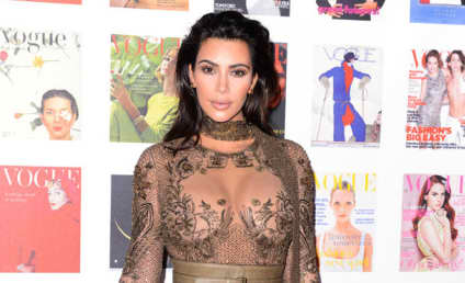Kim Kardashian, Giant Boobs Attend Vogue 100 Gala