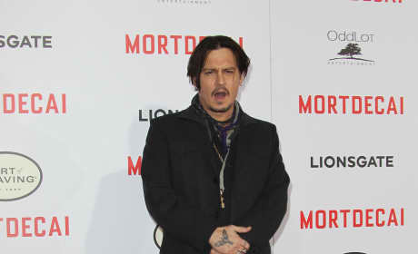 Johnny Depp Mortdecai Premiere Photo