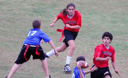 Paris Jackson Leads Flag Football Team to Romp