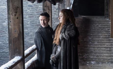 Littlefinger & Sansa at the Wall