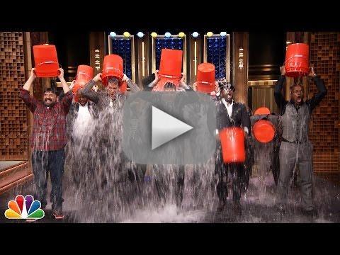 Jimmy Fallon Accepts Ice Bucket Challenge