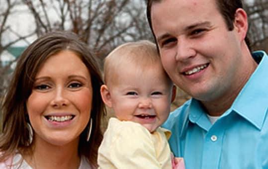 Josh and Anna Duggar and Daughter