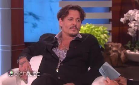 Johnny Depp: Drunk on Ellen?