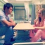 Billie Lourd with Taylor Lautner