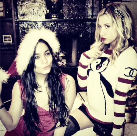 Vanessa Hudgens and Ashley Tisdale Christmas Pic