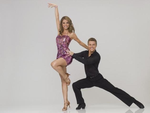 Maria Menounos and Derek Hough
