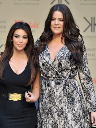 Kim Kardashian and Khloe Kardashian Photo