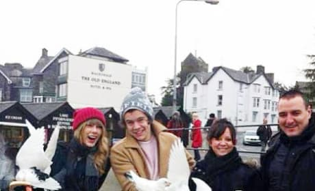Taylor Swift and Harry Styles in England
