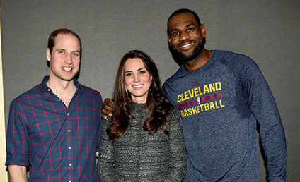 LeBron James Breaks Royal Protocol, Puts Arm Around Kate Middleton: Watch the Video!