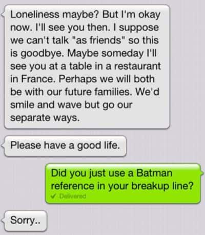 Lazy Breakup Text