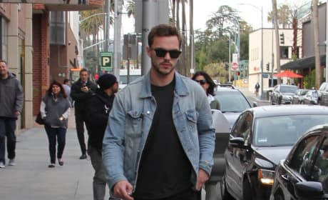 Nicholas Hoult Walks To His Car in Beverly Hills
