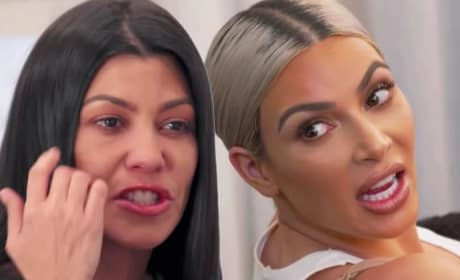 Kim Kardashian Klashes with Kourtney Kardashian: See the Klip!