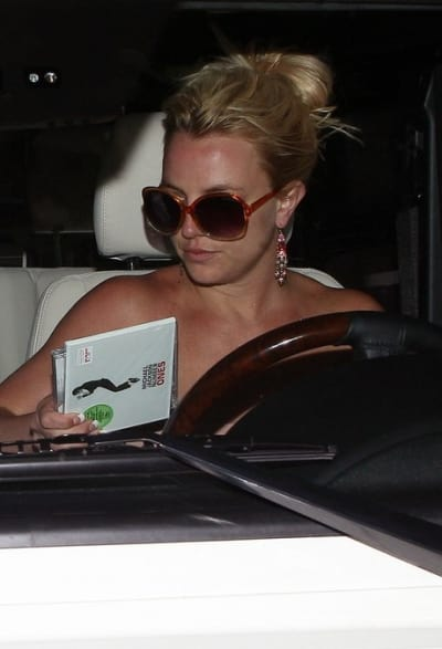 Britney in the Car