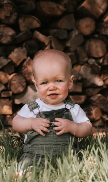 Jackson Roloff at Almost a Year