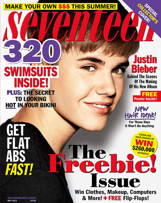 Justin Bieber Seventeen Cover