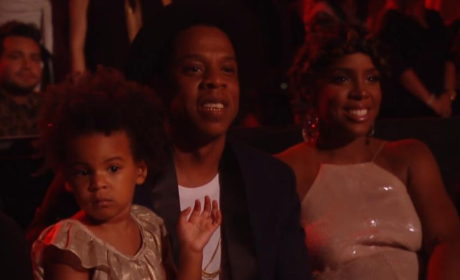 Blue Ivy, Jay Z Watch Beyonce