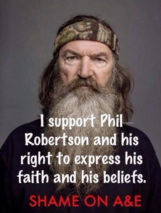Phil Robertson Supported By Bristol Palin