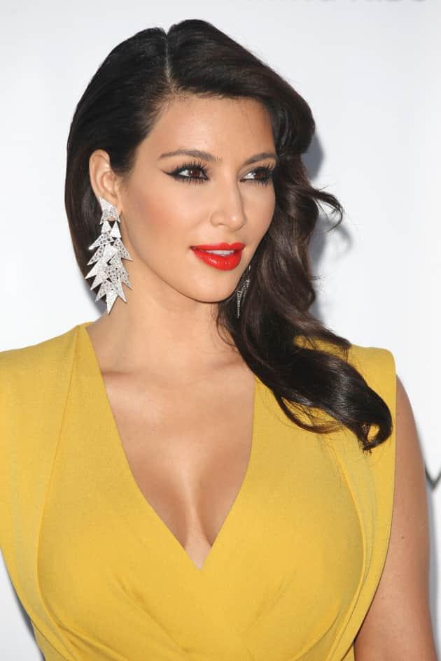 Kim Kardashian in Yellow