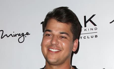 Rob Kardashian Smiling and Laughing