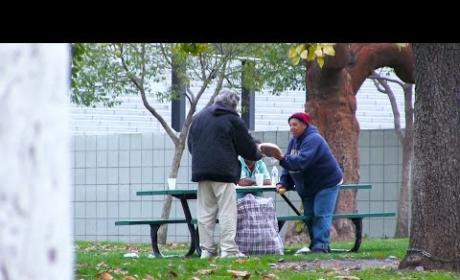 Homeless Man Receives, Spends $100