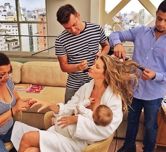Gisele Bundchen Breastfeeding