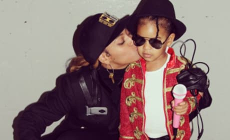 Beyonce and Blue on Halloween